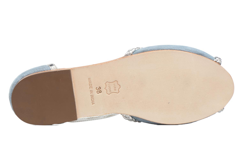 Sandales et nu-pieds Petite mendigote Trefle Bleu vue haut