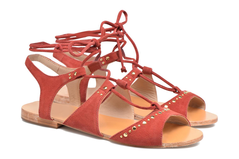 Sandals Petite mendigote Osier Red 3/4 view