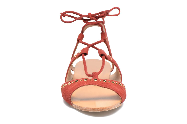 Sandals Petite mendigote Osier Red model view