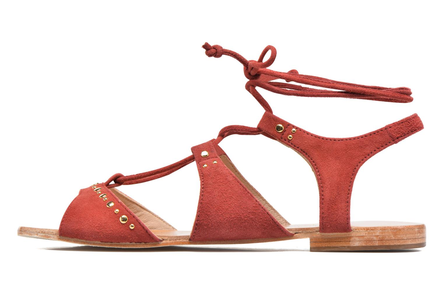 Sandals Petite mendigote Osier Red front view