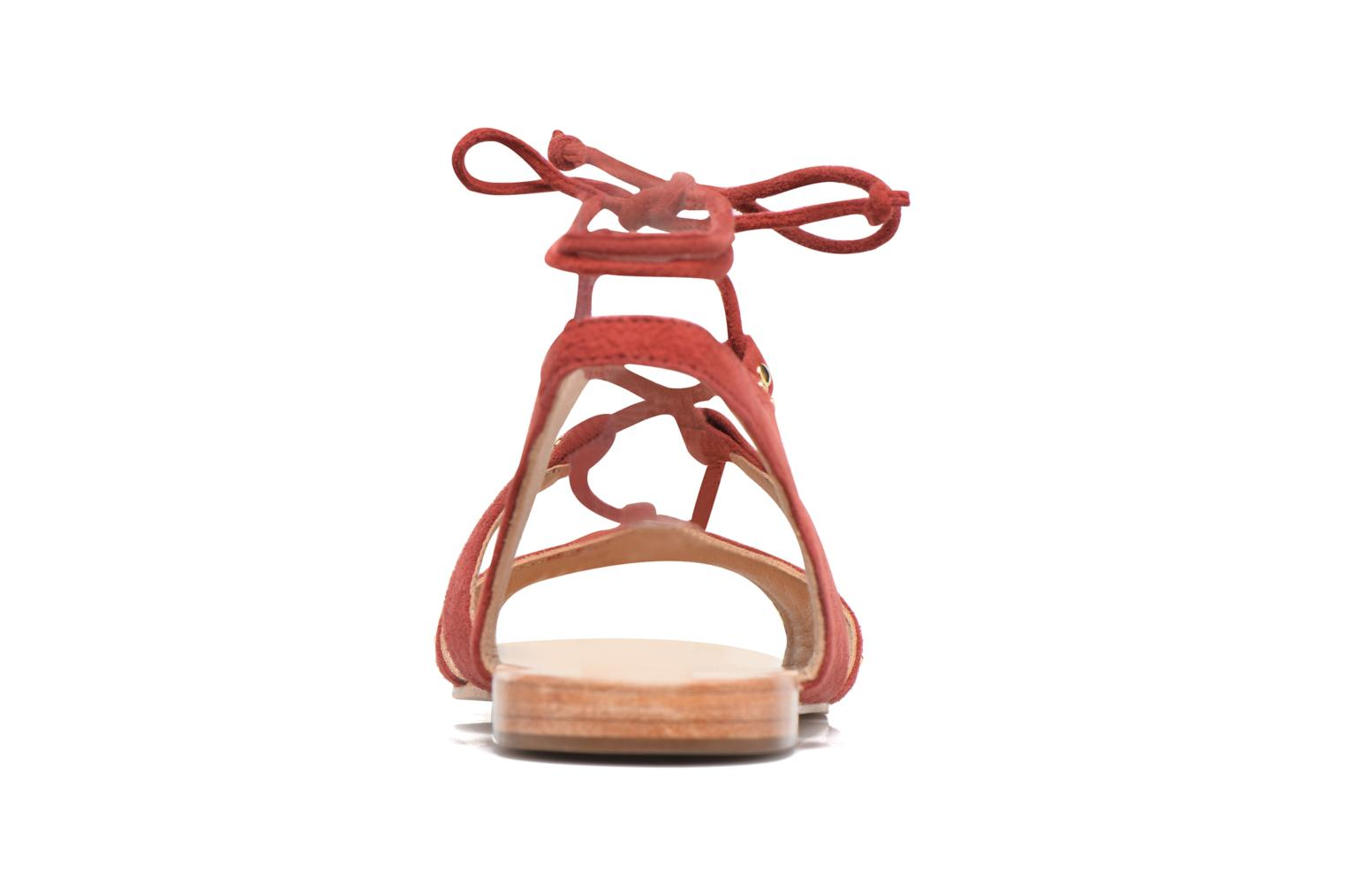 Sandals Petite mendigote Osier Red view from the right