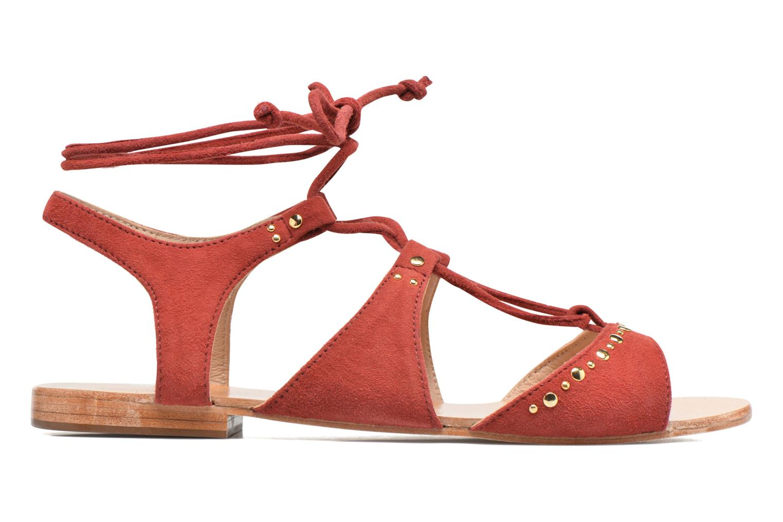 Sandals Petite mendigote Osier Red back view