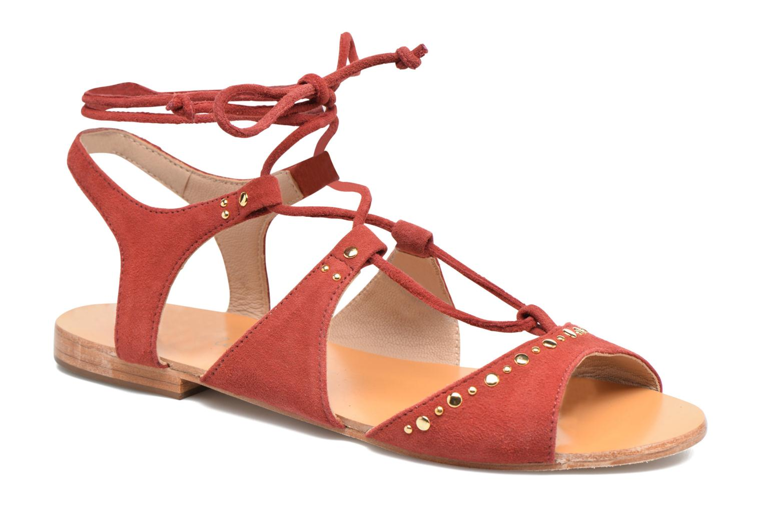 Sandals Petite mendigote Osier Red detailed view/ Pair view