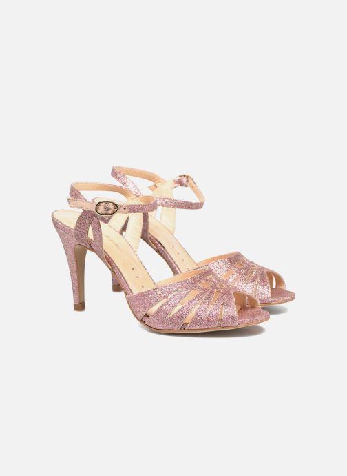 Sandales et nu-pieds Petite mendigote Hibiscus Rose vue 3/4