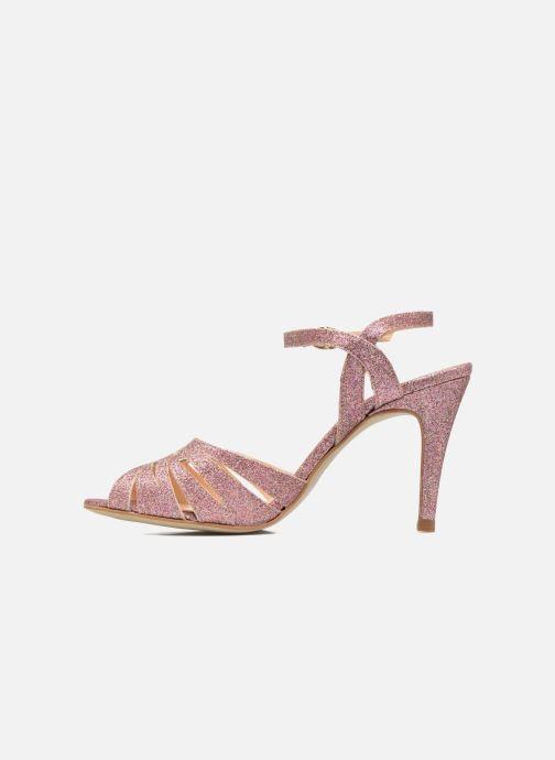 Sandales et nu-pieds Petite mendigote Hibiscus Rose vue face