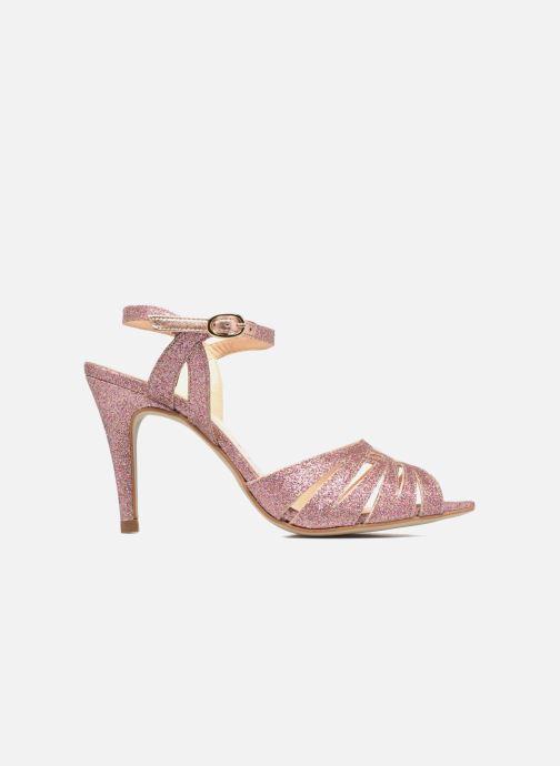 Sandales et nu-pieds Petite mendigote Hibiscus Rose vue derrière