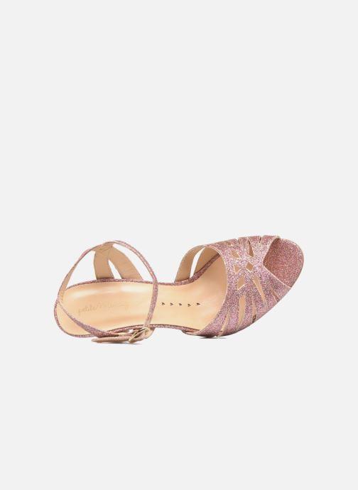 Sandales et nu-pieds Petite mendigote Hibiscus Rose vue gauche