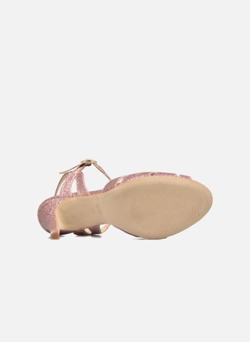 Sandales et nu-pieds Petite mendigote Hibiscus Rose vue haut