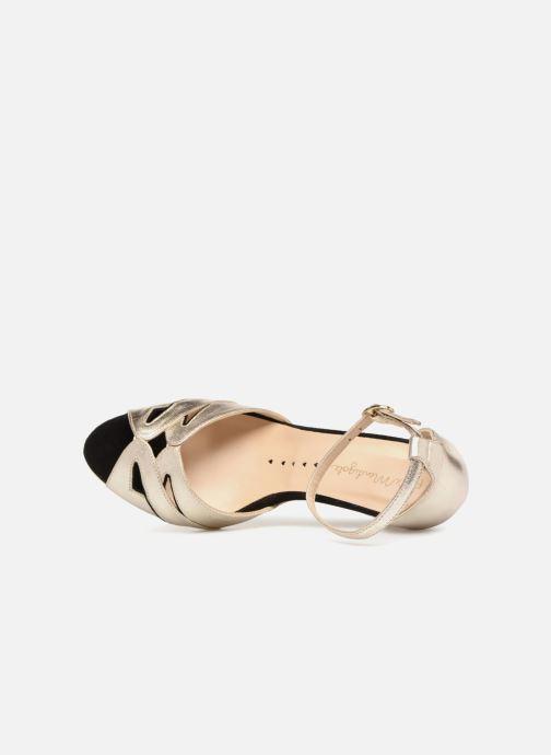 Sandales et nu-pieds Petite mendigote Charme Or et bronze vue gauche