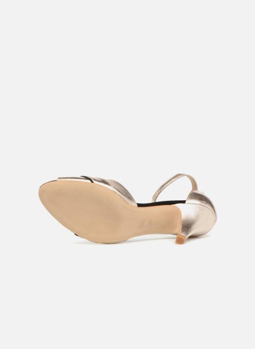 Sandales et nu-pieds Petite mendigote Charme Or et bronze vue haut