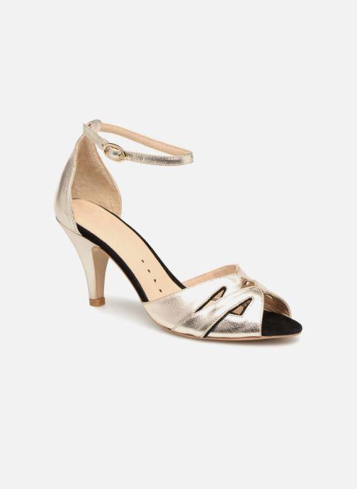 Sandales et nu-pieds Petite mendigote Charme Or et bronze vue détail/paire