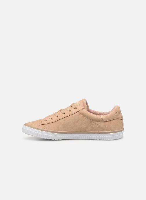 Sneakers Esprit Riata Lace Up Beige voorkant