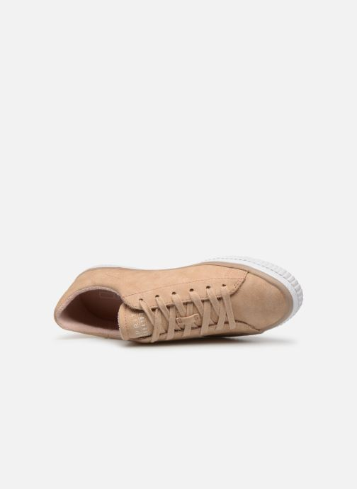 Trainers Esprit Riata Lace Up Beige view from the left