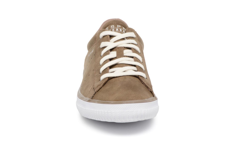 Sneaker Esprit Riata Lace Up braun schuhe getragen