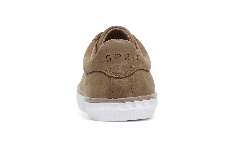 Sneakers Esprit Riata Lace Up Marrone immagine destra