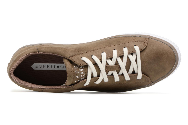 Sneakers Esprit Riata Lace Up Marrone immagine sinistra