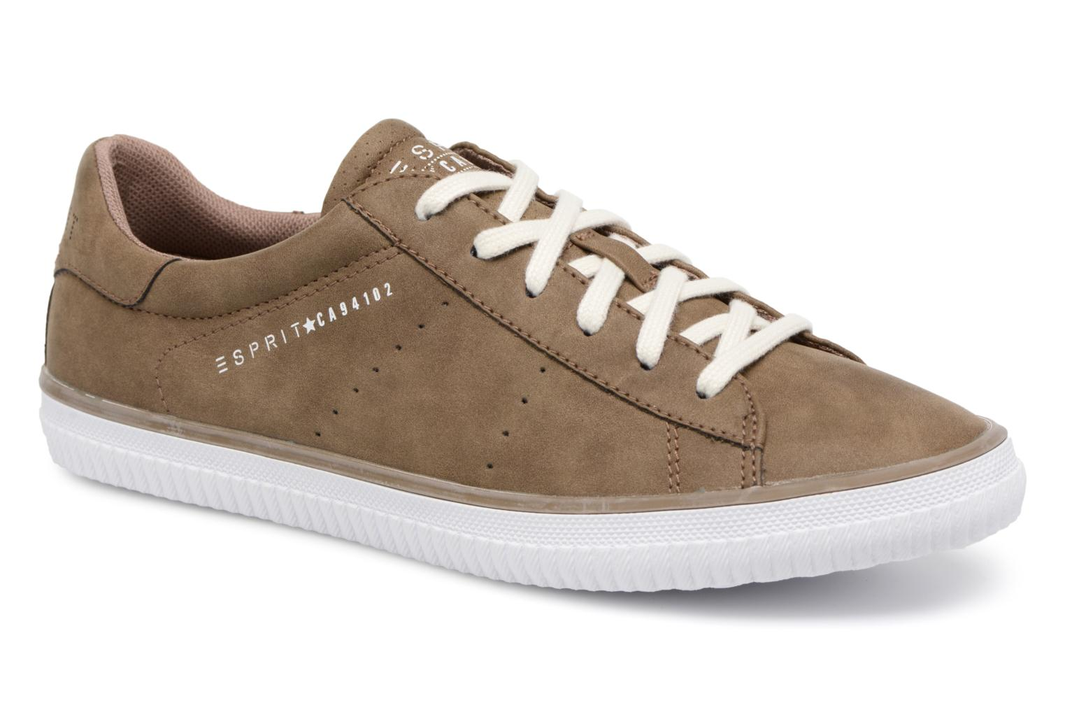 Trainers Esprit Riata Lace Up Brown detailed view/ Pair view