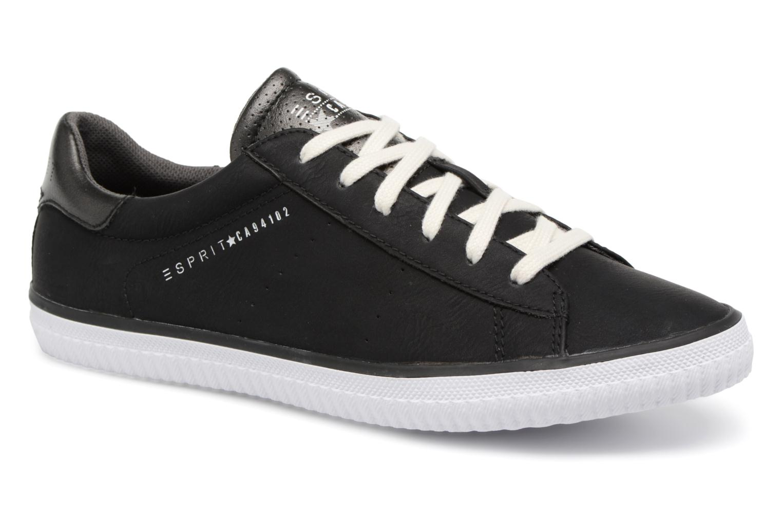Trainers Esprit Riata Lace Up Black detailed view/ Pair view
