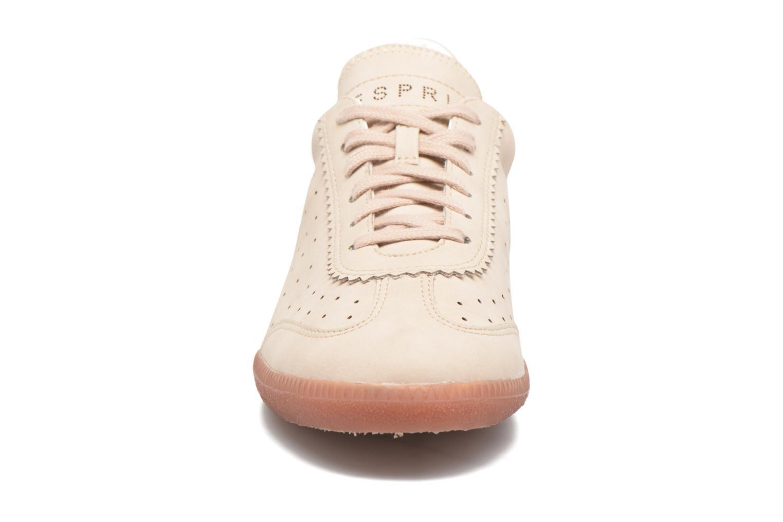 Sneaker Esprit Trainee Lace Up beige schuhe getragen