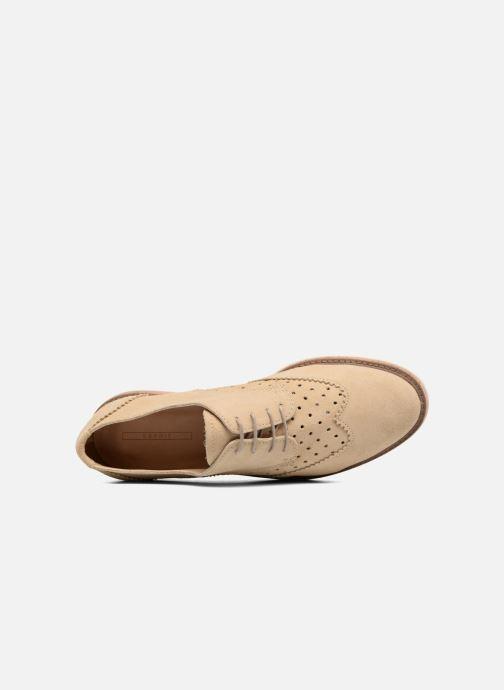 Zapatos con cordones Esprit Crissy Lace Up Beige vista lateral izquierda