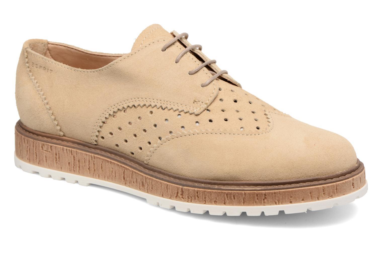 Chaussures à lacets Esprit Crissy Lace Up Beige vue détail/paire
