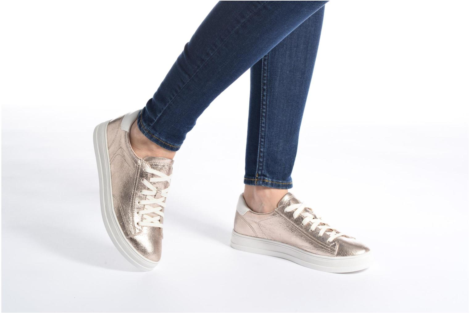Trainers Esprit Sidney Lace Up Beige view from underneath / model view