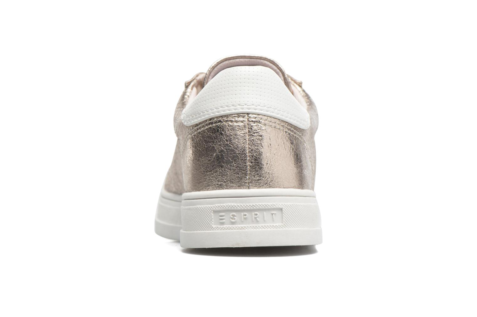 Trainers Esprit Sidney Lace Up Beige view from the right