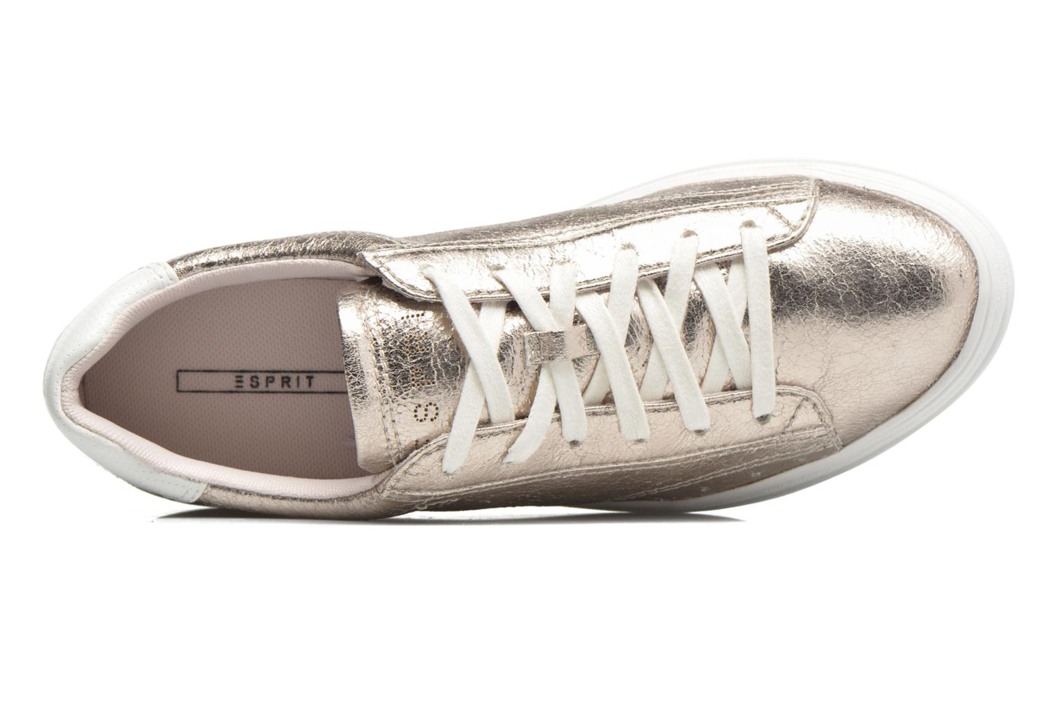 Trainers Esprit Sidney Lace Up Beige view from the left