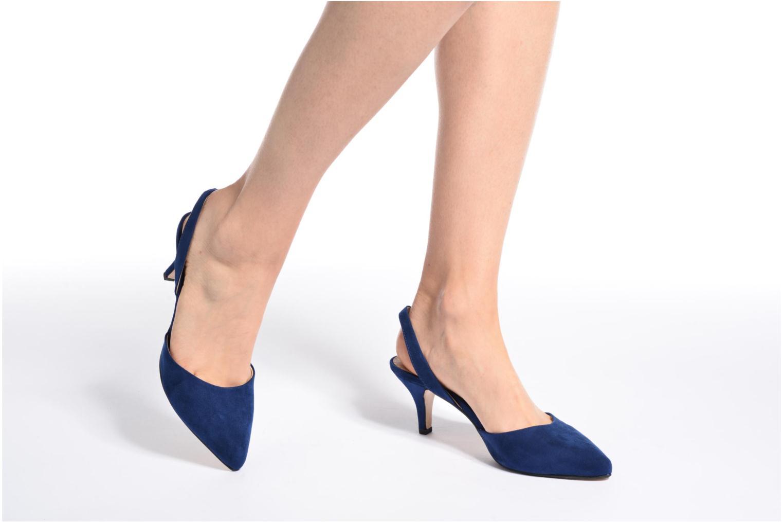 Escarpins Esprit Pyra slig Bleu vue bas / vue portée sac