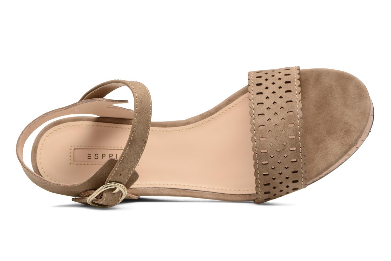 Sandales et nu-pieds Esprit Gessie Sandal Marron vue gauche