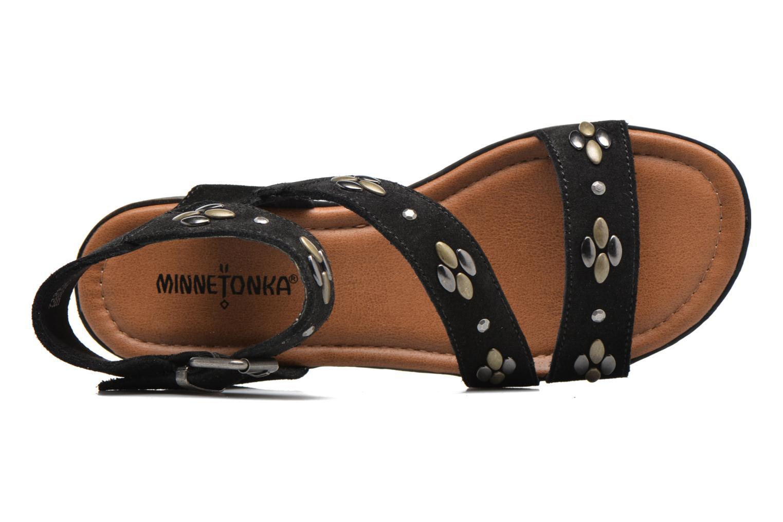 Sandales et nu-pieds Minnetonka Tangier Noir vue gauche