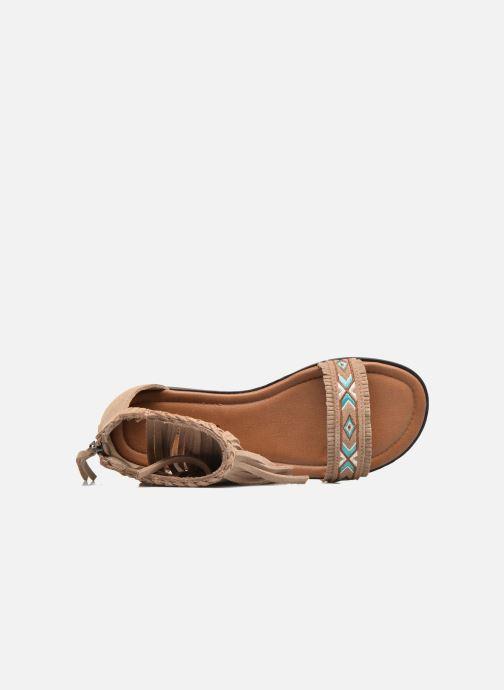 pieds Morocco Chez Et Minnetonka Nu beige Sandales w7xdqSdX4
