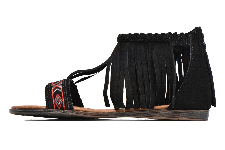 Sandales et nu-pieds Minnetonka Morocco Noir vue face