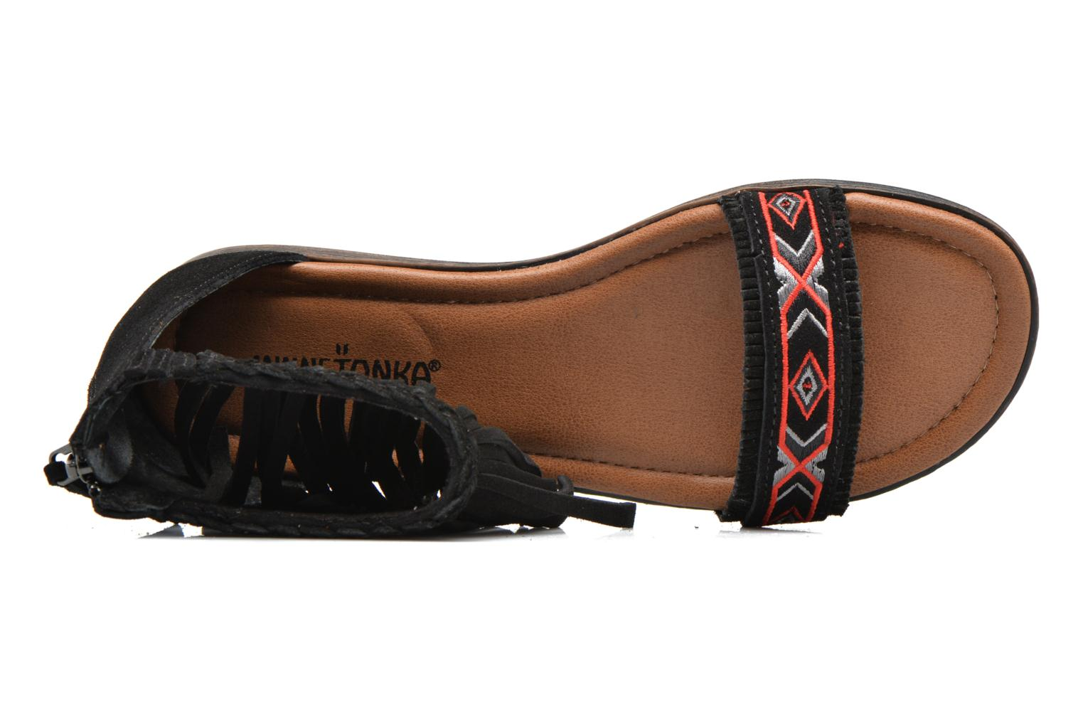 Sandals Minnetonka Morocco Black view from the left