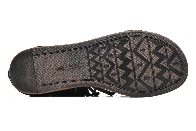 Sandales et nu-pieds Minnetonka Morocco Noir vue haut