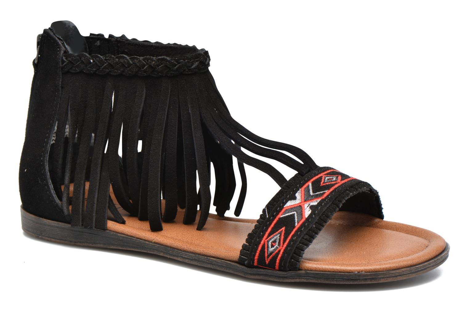 Sandals Minnetonka Morocco Black detailed view/ Pair view