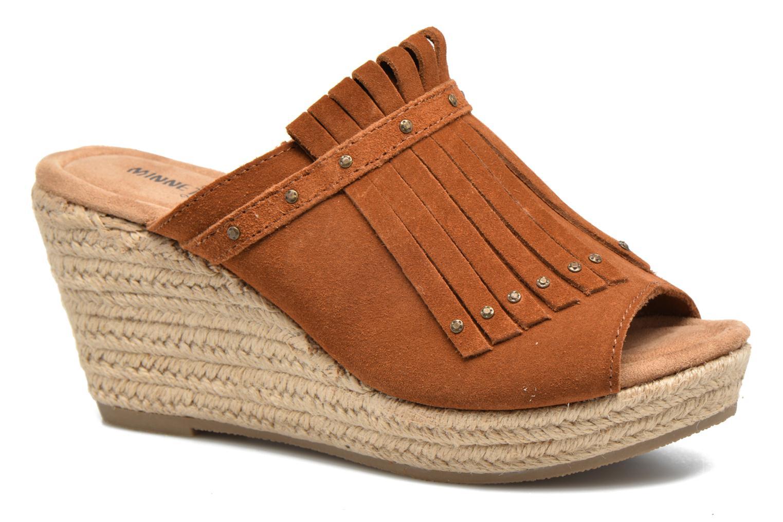 Clogs og træsko Minnetonka Quinn Beige detaljeret billede af skoene