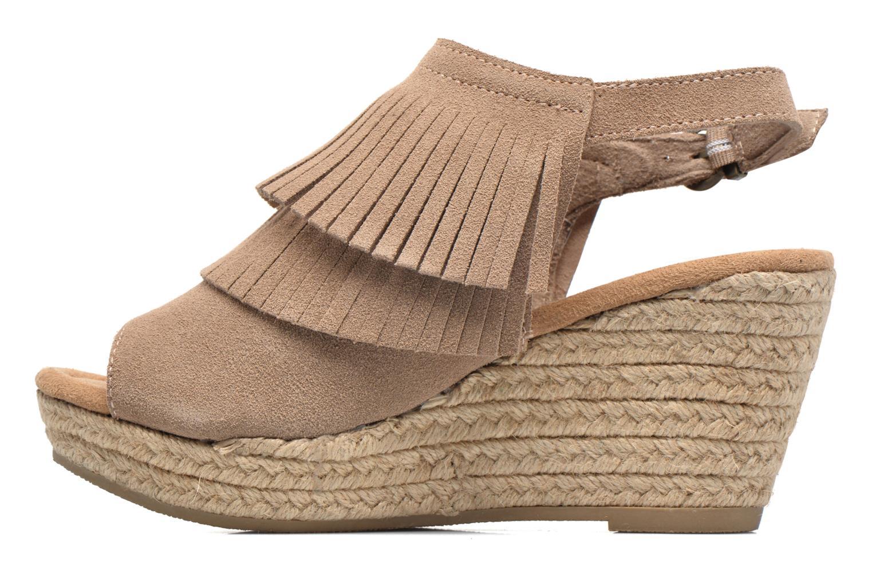 Sandali e scarpe aperte Minnetonka Ashley Beige immagine frontale