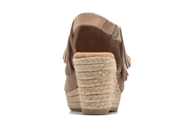 Sandali e scarpe aperte Minnetonka Ashley Beige immagine destra