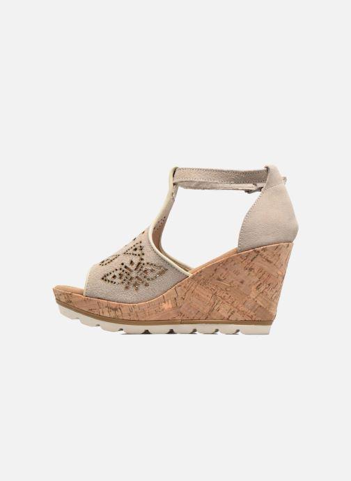 Sandali e scarpe aperte Minnetonka Ellis Grigio immagine frontale