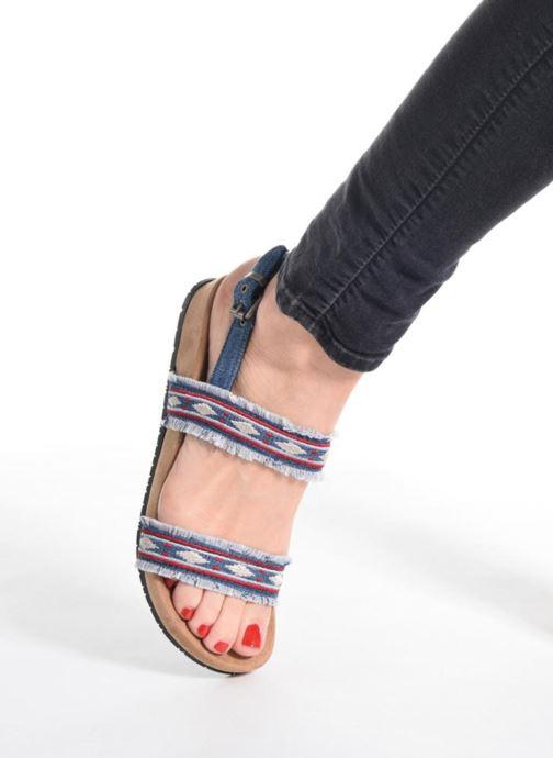 Sandalen Minnetonka Melody blau ansicht von unten / tasche getragen