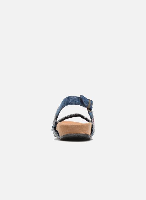 Sandalen Minnetonka Melody blau ansicht von rechts