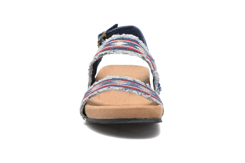 Sandalen Minnetonka Melody blau schuhe getragen