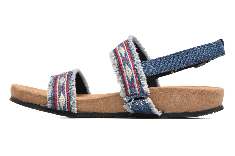 Sandalen Minnetonka Melody blau ansicht von vorne