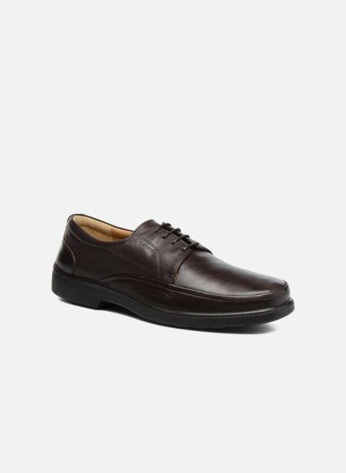 Zapatos con cordones Sledgers Gaf Marrón vista de detalle / par
