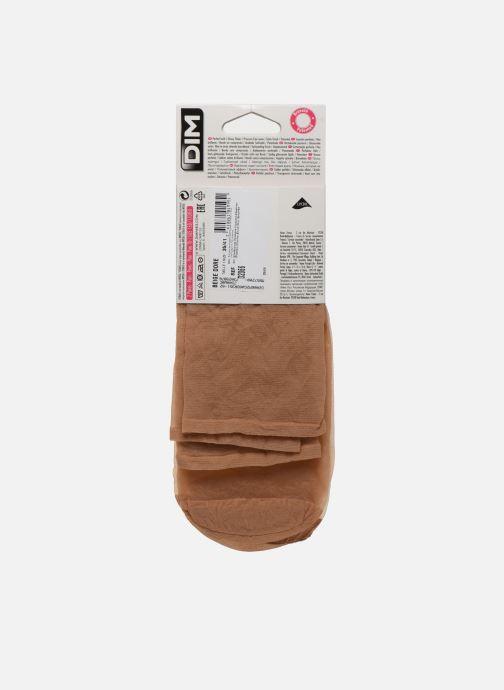 Chaussettes et collants Dim Mi-Bas Sublim Voile Brillant Bord sans compression pack x2 Beige vue portées chaussures
