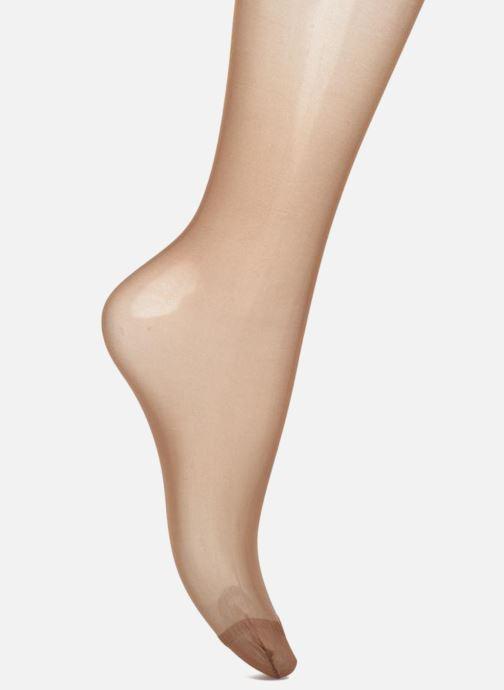 Sokken en panty's Dim Sublime Voile Brillant Peaux noires et métissées Beige voorkant