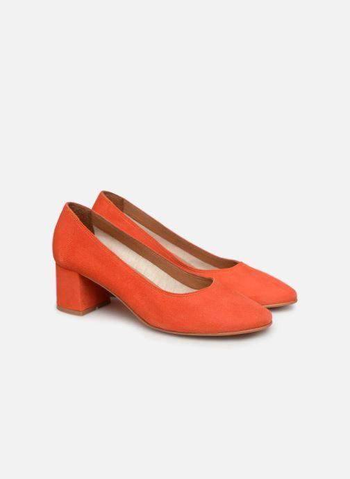 Zapatos de tacón Made by SARENZA UrbAfrican Escarpins #7 Naranja vistra trasera