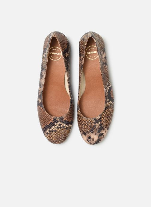 Escarpins Made by SARENZA UrbAfrican Escarpins #7 Marron vue portées chaussures
