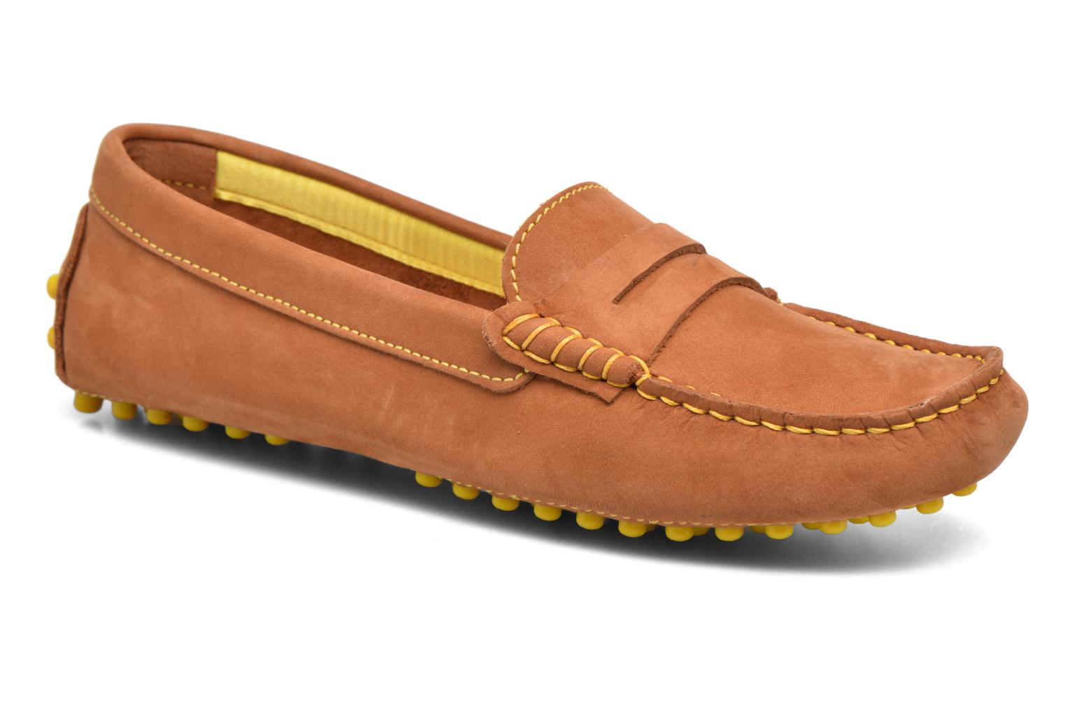 Loafers Georgia Rose Stamac Brown detailed view/ Pair view